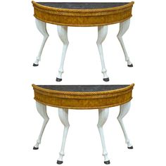 1stdibs | A pair of painted console tables from Drum & Co