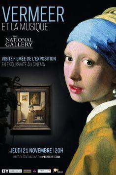 """""""Vermeer et la musique"""", l'exposition de la National Gallery sur Johannes Vermeer, le peintre de la célèbre """"jeune fille à la perle""""en exclusivité au cinéma Pathé-Gaumont le jeudi 21 novembre 2013 à 20h"""
