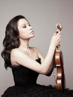Sarah Chang, wow that dress!  and violin speaks for itself