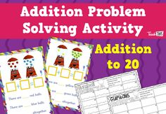 Addition Problem Solving Cards - Year 1-2