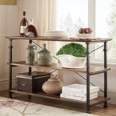 Myra Vintage Industrial TV Stand by iNSPIRE Q Classic   Overstock.com Shopping - The Best Deals on Coffee, Sofa & End Tables