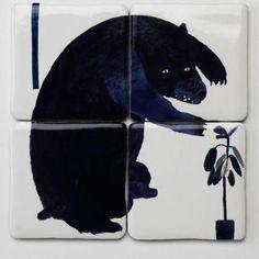 madeleinejdavis:  Illustrative tiles by Laura Carlin.