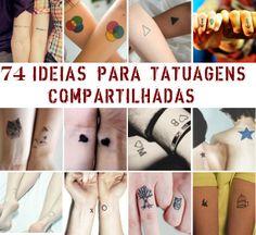 74 IDEIAS DE TATUAGENS PARA COMPARTILHAR COM QUEM VOCÊ AMA
