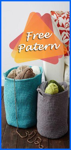 Stash Basket in Bernat Blanket Free Pattern, basket crochet pattern free, Free Pattern, Basket, Crochet, Pattern, Easy, Crafts, Tips, DIY, Yarn, Tutorial, Crochet Easy, Crochet Pattern, Beginners. #crocheting #YarnOfCrochet #crochet #crochetaddict #freepattern #basket