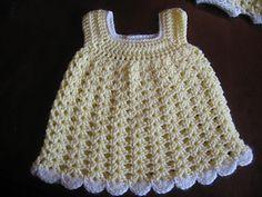 Easy Baby Sun Dress | Free crochet pattern via Ravelry