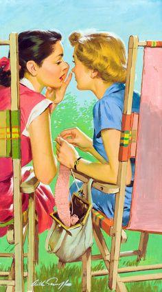 Trendy Vintage Posters Women Pin Up Girls Illustrations Images Vintage, Photo Vintage, Vintage Love, Vintage Pictures, Retro Vintage, Pin Up Retro, Retro Art, Art Pop, Deco Cafe