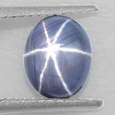 2.27 Cts Natural Finest Sharp 6 Rays Unheated Blue Star Sapphire Oval Cab Ceylon
