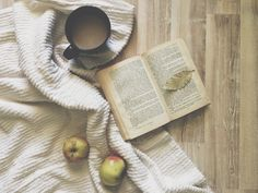 #Autumn #apples #book #wood #coziness #coffee