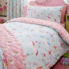 Magical Unicorn Single Duvet Cover and Pillowcase Set