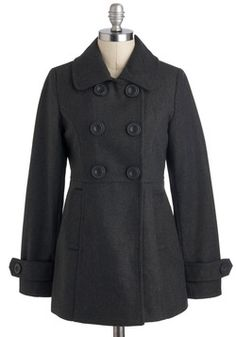 Peas in a Pod Coat in Charcoal, #ModCloth