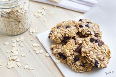 Chocolate Chunk Oatmeal Raisin Cookies from Our 25 Favorite Cookie Recipes Desserts With Biscuits, Favorite Cookie Recipe, Oatmeal Raisin Cookies, Tortilla Chips, I Foods, Sugar Free, Cookie Recipes, Cereal, Frozen