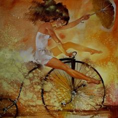 Kai Fine Art is an art website, shows painting and illustration works all over the world. Carol Bennett, Maya, Adrian Martinez, Bev Doolittle, Bo Bartlett, Bicycle Print, Audrey Kawasaki, Girly Pictures, Cycling Art