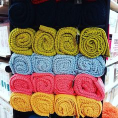 In store shot of our ardor knitted throws!  #throws #throwrugs #home #style #colour