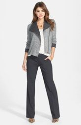 Perfect outfit for work - really like the jacket - Halogen® Jacket, Tee & 'Taylor' Pants