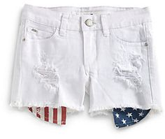 ShopStyle: Joes Jeans Girls Flag-Printed Pocket Denim Shorts