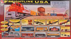 Amazon.com: Life-Like Trains HO Scale Freightline USA Electric Train Set: Toys & Games