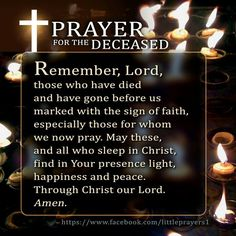 Prayer for the deceased