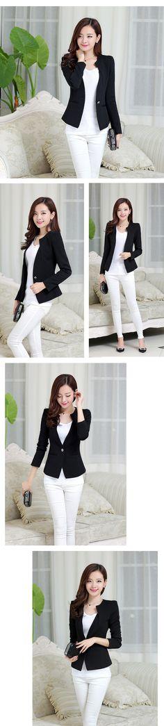 2016 Short Jacket Blazer Women Slim Commuter Suit Long Sleeve Half Open Collar Coat Sugar Color Single Button Vogue Feminino Blazers Jackets Tops Color: White, Black, Yellow, Pink, Rose Red Size Details:S Lenght: 57cm Bust: 84cm Waist: 32cm Sleeve: 60cmM Lenght: 58cm Bust: 88cm Waist: 34.5cm Sleeve: 61cmL Lenght: 59cm Bust: 92cm Waist: 36cm Sleeve: ...