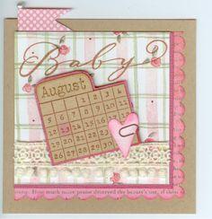 calendar month 3578D Stamp-it Australia, baby Denami Design. Card by Susan of Art Attic Studio