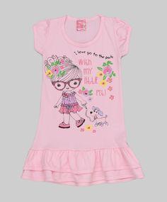 Vestido baby rosa claro - Dinda