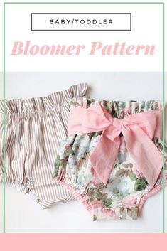 I need to learn how to set - there are so many color and pattern possibilities with this bloomer pattern for baby girls! ...#afflink #babygirl #sewinginspiration #sewingprojects #sew #handmade #girlmom
