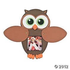 Owl Peek-A-Boo Photo Frame Craft Kit-- this would be very easy to make own template for