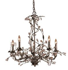 View the Elk Lighting 8054/5 Crystal 5 Light Up Lighting Chandelier from the Circeo Collection at LightingDirect.com.