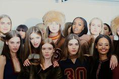 hat.  @ New York Fashion Week: Tommy Hilfiger Fall/Winter 2015