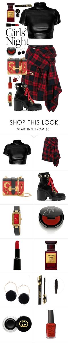 """Rebel Yell"" by rachael-aislynn ❤ liked on Polyvore featuring Dsquared2, Prada, Gucci, Marc Jacobs, Rituel de Fille, Giorgio Armani, Tom Ford, tarte and Yves Saint Laurent"