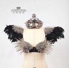 Ultra long rivet corselets all match punk costume ds dj-inChinese Folk Dance from Apparel & Accessories on Aliexpress.com