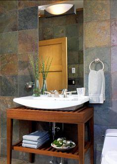 love this asian influenced bathroom.