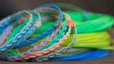 Recycled Fly Line Bracelets by Flyvines Bracelet.  Cool, and ecofriendly for the outdoorsy folks.