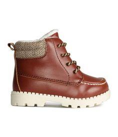 Boots met teddy voering   Middenbruin   Kinderen   H&M NL
