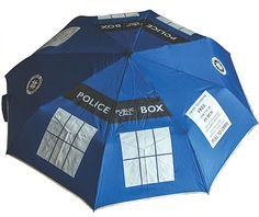 Since I live in Seattle I need this Tardis umbrella