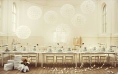 COCOCOZY FIND: A DANDY OF A DANDELION SHAPED CEILING LIGHT!