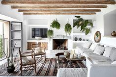 Contemporary rustic villa with scandinavian influences in Deià, Mallorca, designed by More Design. Photo by Greg Cox via Est Magazine