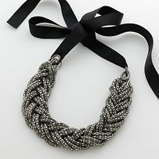 ideas for altering a statement braided necklace - Google Search