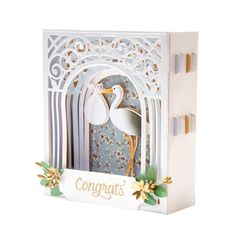 Order and save on the Spellbinders Shapeabilities Grand Arch Card Etched Dies from the Elegant Vignettes collection online here at CraftDirect - the crafts leaders. 3d Cards, Folded Cards, Diy Scrapbook, Scrapbooking, Spellbinders Cards, Step Cards, Heartfelt Creations, Album, Baby Cards