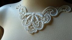 Ivory Venice Lace Collar Appliques for Jewelry by MaryNotMartha, $2.25
