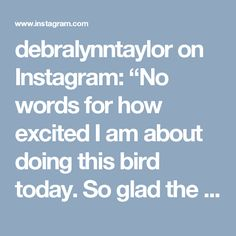 """debralynntaylor on Instagram: """"No words for how excited I am about doing this bird today. So glad the pattern was finally released! Margo, you have hit a homerun on this…"""""""