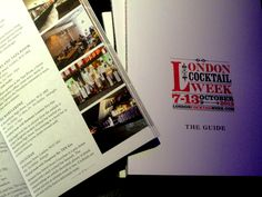 Have you got the London Cocktail Week 2013 guide book yet?  Check out page 47 & make sure getting LCW wristbands - we'll be offering 4 x £4 cocktails on Thursday 10th October, and it's only available for LCW wristband holders only!