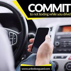 https://www.instagram.com/p/BTWtfORlWLs/ united_securityThe National Safety Council reports that cell phone use while driving leads to 1.6 million crashes each year. Nearly 330,000 injuries occur each year from accidents caused by textingwhile driving. 1 out of every 4 caraccidents in the United States is caused by texting and driving.