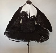 After multiple requests for the wings only from my Black Swan costume, Ive decided to begin offering it as a single item. This is a short knit shrug with layers of black iridescent wings on mesh. Frozen Costume Adult, Black Swan Costume, Mickey Mouse Costume, Poison Ivy Costumes, Family Halloween Costumes, Couple Costumes, Halloween Stuff, Tinker Bell Costume, Black Tutu