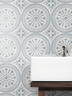 How gorgeous is this tile in the bathroom! It's Florence Gullwing Light by Southern Cross Ceramics from their Artisan Range wall Bathroom Floor Tiles, Wall Tiles, Tile Floor, Bathroom Goals, Bathroom Ideas, Patchwork Tiles, Artisan, House Design, Ceramics
