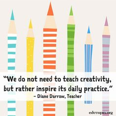 While we may celebrate #DotDay on September 15, don't forget that creativity should be a daily practice. :) Teaching Quotes, Teaching Art, Parenting Quotes, Teaching Tools, Teaching Ideas, Art Room Posters, Art Quotes, Inspirational Quotes, Quotable Quotes