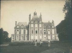 Château de Balleroy (Normandie): la façade sur jardin, vers 1901. Photographe inconnu, 85 x 115. eBay 351574929803 (Bruno Tartarin).