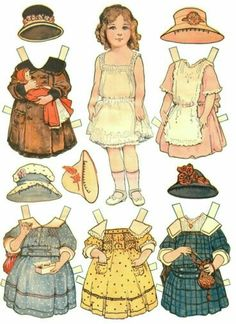 Elizabeth'sTrousseau paper doll (1 of 2): Dollies to Paint, Cutout and Dress, 1918 Saalfield #1180 | Mostly Paper Dolls