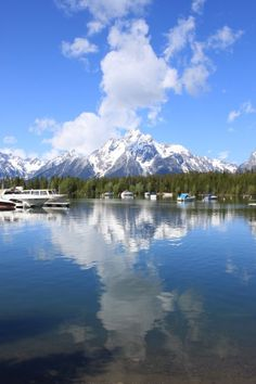 Mount Moran from Colter Bay Grand Teton National Park, National Parks, Jackson Hole Wyoming, Mountain Living, Idaho, Travel Photography, Bucket, Adventure, Places