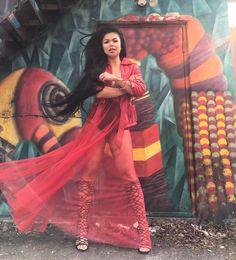 "RED. PASSION. LOVE. SCORPIO. ""UNAGI"" tulle unlined skirt $69 (I'm in a medium)  http://ift.tt/1k8MHGM  #styles #fashion #onlineshopping #shoponline #torontofashion"