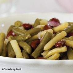Gooseberry Patch Recipes: Old Fashioned Three-Bean Salad - a must-have for any family gathering!